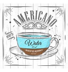 Poster americano vector image vector image