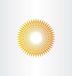 sun halftone background design vector image