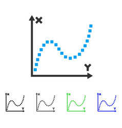 Dotted plot flat icon vector