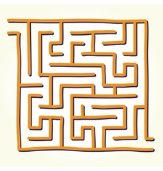 Hand drawn labyrinth vector image vector image