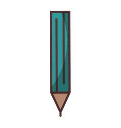 isolated shadow pencil vector image