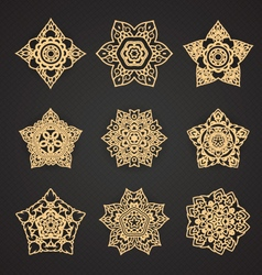 Line Thai Pattern set vector image vector image