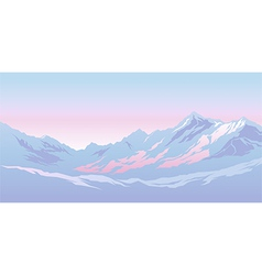 Mountains in the morning vector image