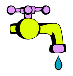 water faucet icon cartoon vector image