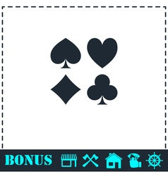 Card suit icon flat vector