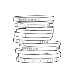 Coins stacks vector image vector image