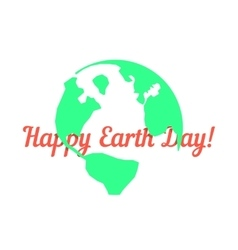green outline planet with red inscription behind vector image