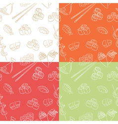 japanese food pattern vector image vector image