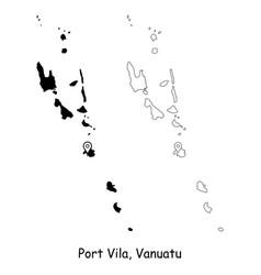 1193 port vila vanuatu vector image