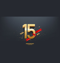 15th year anniversary background vector