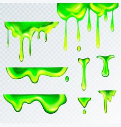 3d realistic green goo slime vector