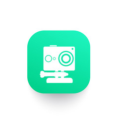 Action camera icon pictograph vector