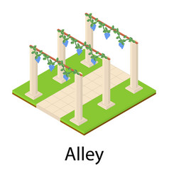 Alley icon isometric style vector