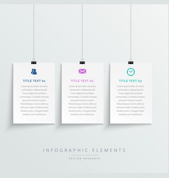 Amazing hanging white banners infographic template vector