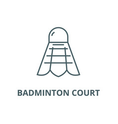 badminton court line icon badminton court vector image