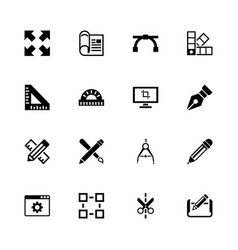 blueprint - flat icons vector image