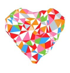 Bright heart in colored on white background vector image vector image