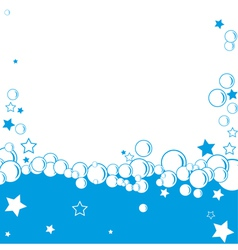bubble border vector image