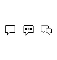 bubble speech icon editable line vector image
