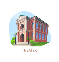 Building of theater or theatre construction vector
