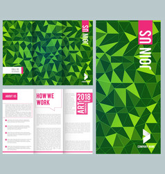 business leaflet folding trifold brochure design vector image