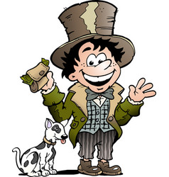 cartoon a happy oliver twist vector image