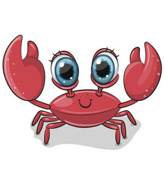 cartoon crab isolated on a white background vector image