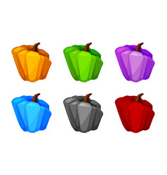 cartoon pumpkin colored isolated bright vegetable vector image
