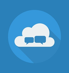 Cloud computing flat icon chat vector