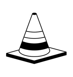 construction cone isometric icon vector image