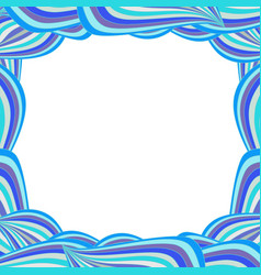 Cute vibrant template with blue curly lines and vector