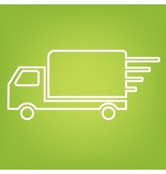 Delivery line icon vector image