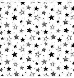 doodle stars pattern seamless star ornaments vector image