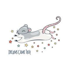 Dreamy rat vector