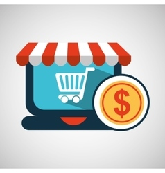 e-commerce concept currency money icon vector image