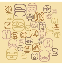 Egypt symbol icon set with a lot of symbols vector