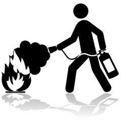 extinguishing fire vector image