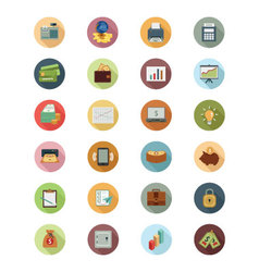 Financial Flat Icons 1 vector image