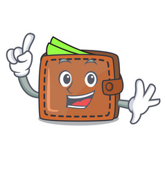 finger wallet mascot cartoon style vector image