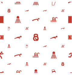 Fitness icons pattern seamless white background vector