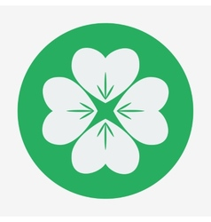 Flat style icon four-leaf clover st patricks day vector