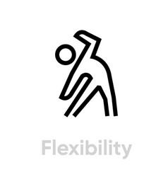 Flexibility activity icon vector