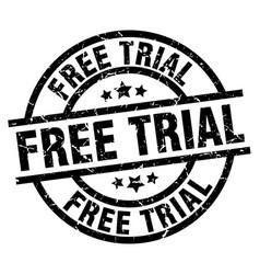 Free trial round grunge black stamp vector