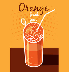 fresh orange juice leaflet banner vector image