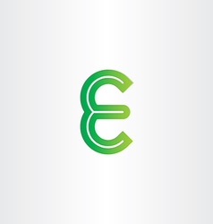 Green letter e symbol design vector