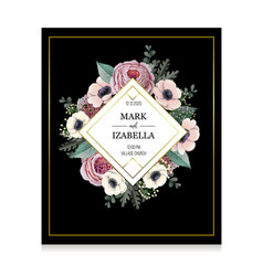 greeting card or wedding invitation vector image