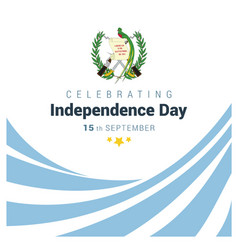guatemala indpendence day design vector image