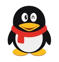 Icon of a cute cartoon penguin vector