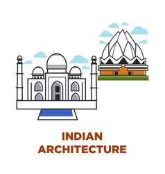 India architecture buildings vector