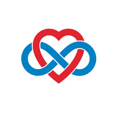 infinite love concept symbol created with vector image